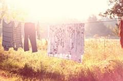 ייבוש הבגדים והבדים בשמש עוזרים לסילוק קרדית האבק